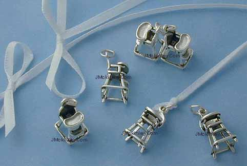sterling silver high chair charms