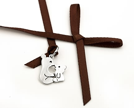 sterling silver teddy bear charms