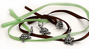 sterling silver Turtle charms