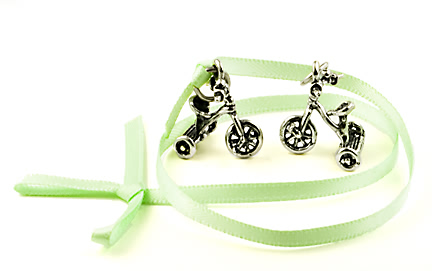 sterling silver Tricycle charms