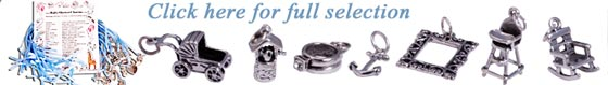 sterling silver baby shower charms