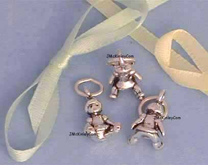 sterling silver doll charms