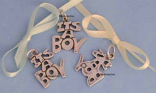 sterling silver its a boy charms